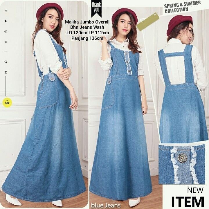 Spesifikasi Miracle Maxi Gamis Delva Longdress Jumbo Overall Jeans Dan Harganya