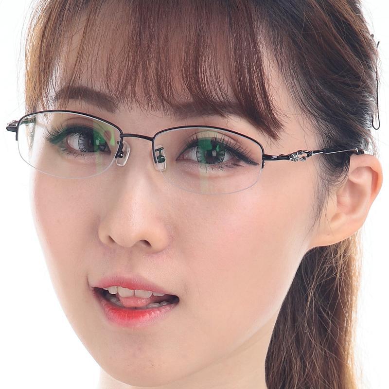 ... Baiwei Logam Kotak Setengah logam campuran bingkai kacamata model  uniseks rabun dekat Bingkai Kacamata Bisa dipadukan ... e2f55d5ce0