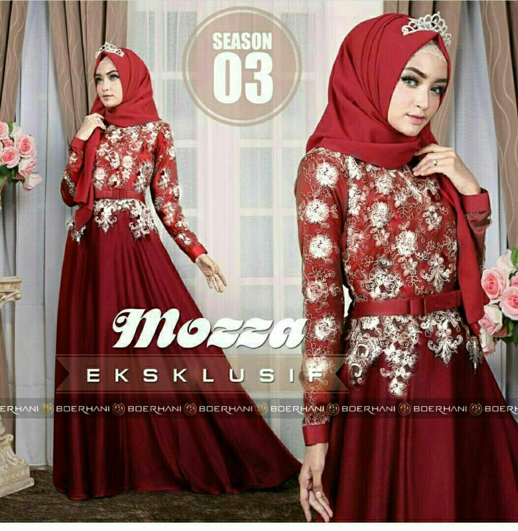 Gamis Hijab Maxi Princess Mozza - He - Best Seller