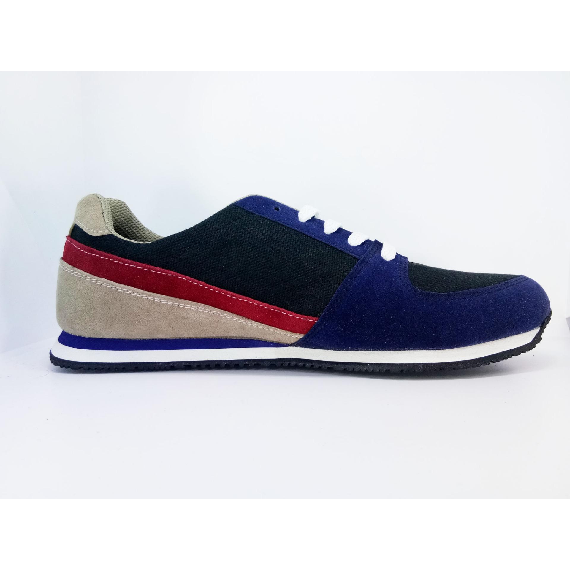 Harga Gshop Sny 6076 Sepatu Sneaker Pria Suede Eva Bagus Navy Kom New