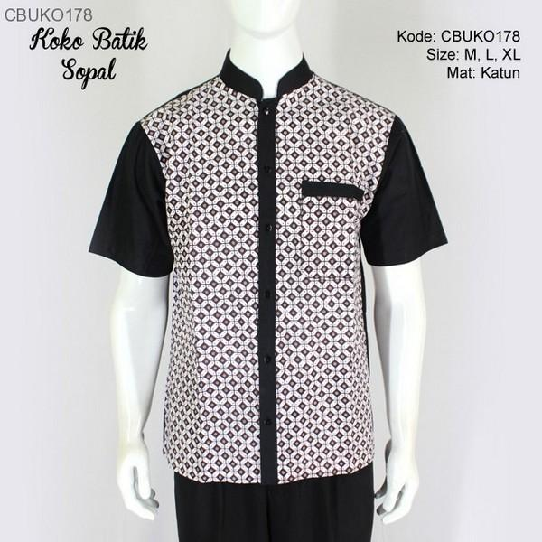 Kemeja Batik Slimfit Pria CB244 Kombinasi Muslim Koko Jeans. Source · Mila Style - Baju