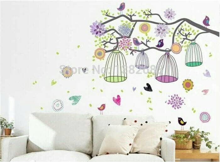 Stiker Dinding /Wall Sticker Dapur Kamar Mandi Anak Wanita Colorful