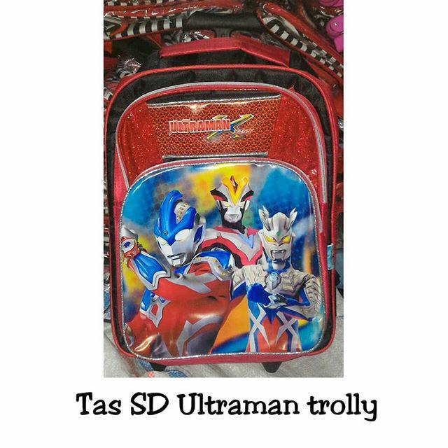 Tas sekolah troli ultraman SD anak laki trolly dorong muat banyak