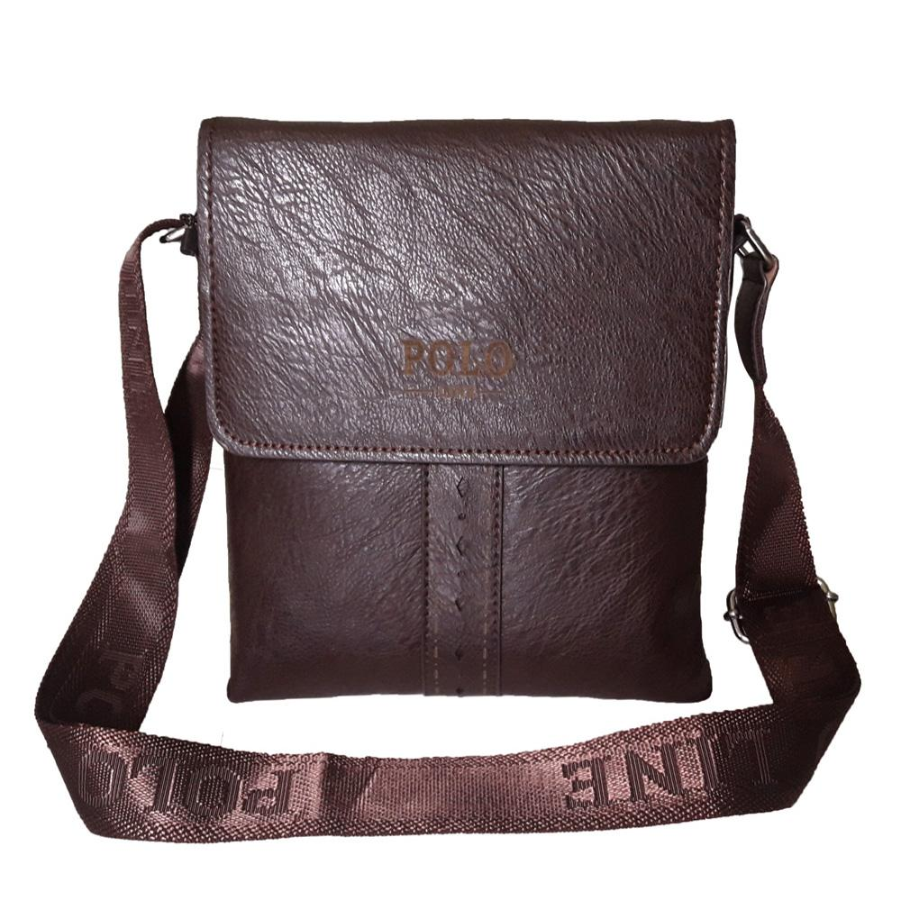 Polo Line Tas Selempang Kulit Tas Massanger Import Casual 4610 Black ... 4ecc670c35