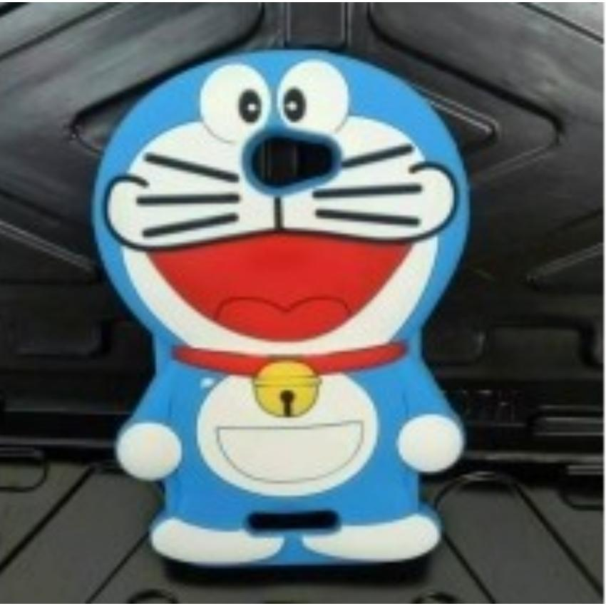 Silicon / Case Boneka 3D Karakter Doraemon Dorayaki Andromax A