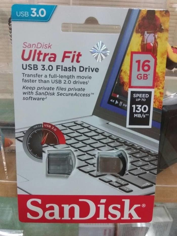 ASLI IMPORT - SANDISK FLASHDISK 16 GB ULTRA FIT CZ43 USB 3.0 UP TO