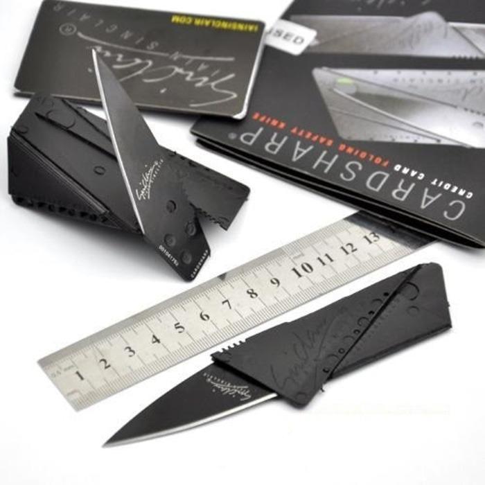 promo Pisau Lipat Mini kecil Kartu ATM Credit Card Sinclair knife Stainless original