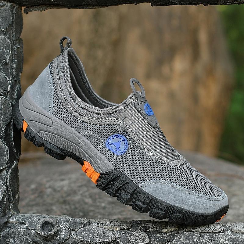 EU39-46 Sepatu Olahraga Ukuran Besar Pria Berkualitas Tinggi Sepatu Daki  Gunung Super Bernapas Sepatu a539189235