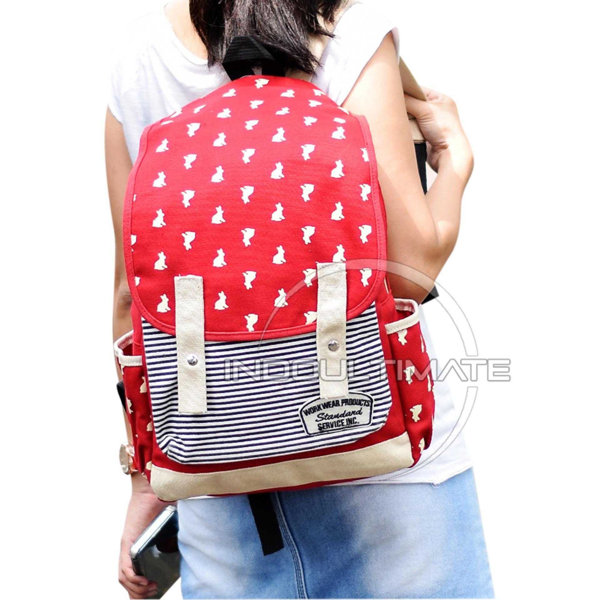 ... Ultimate Tas Backpack Pria Wanita Kanvas   Punggung   Ransel Kuliah    Korean Bag JS- ... 112764df0b