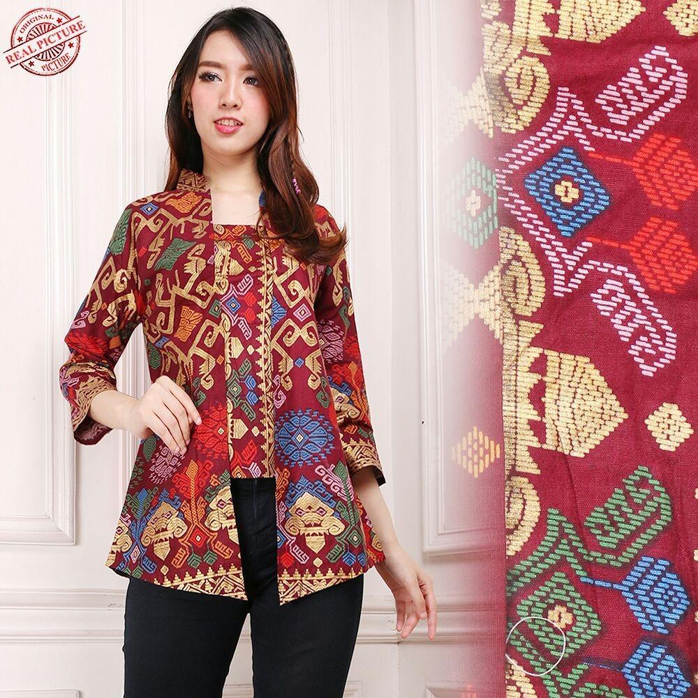 Glow Fashion Batik atasan blouse kemeja Abaya kebaya wanita Hanni M - XL