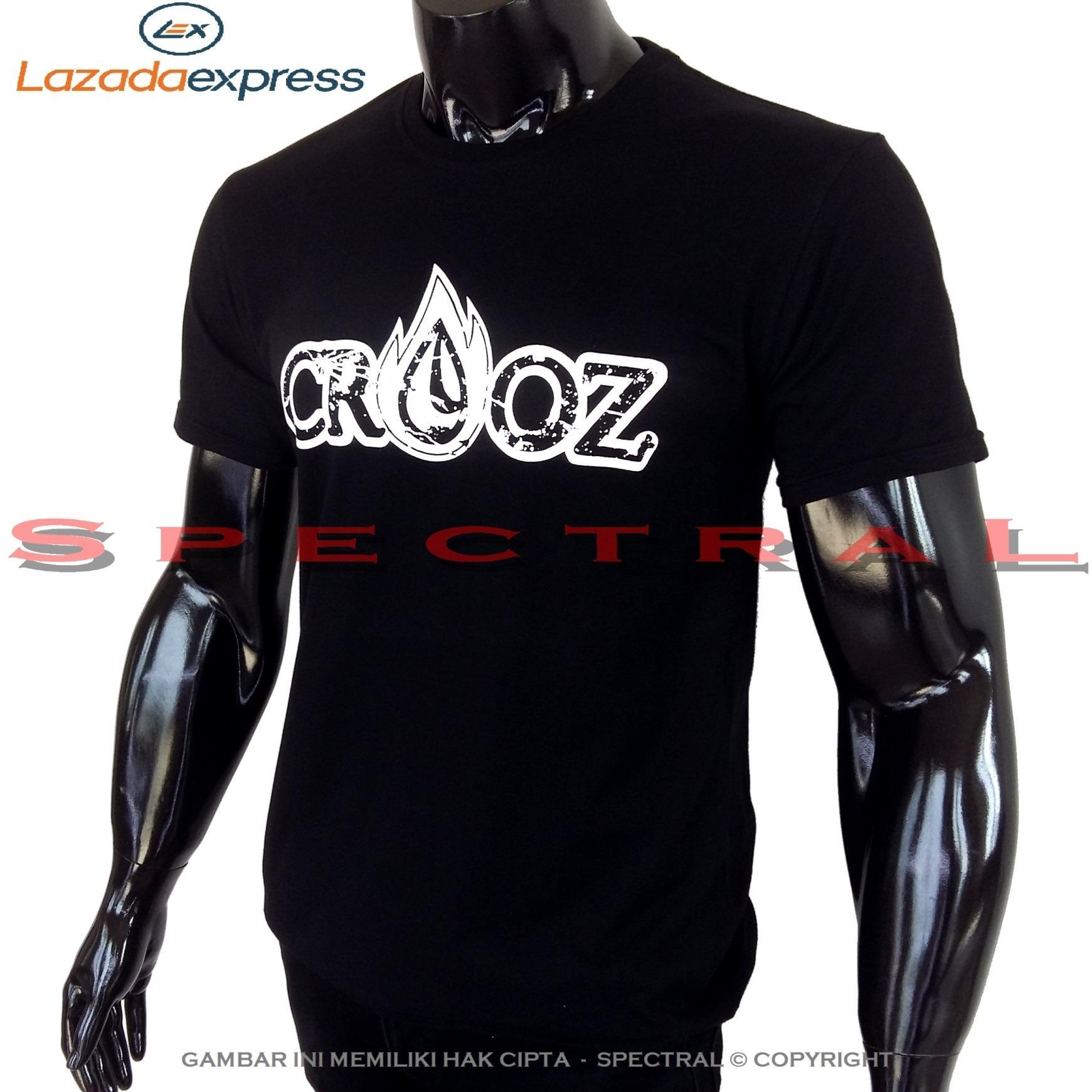 Spectral – CROOZ 100% Soft Cotton Combed 30s Kaos Distro Fashion T-Shirt Atasan Oblong Baju Pakaian Polos Shirt Pria Wanita Cewe Cowo  Lengan Murah Bagus Keren Jaman Kekinian Jakarta Bandung Hitam Gambar Crot Crozz Merek Kata Tulisan 420 4.20