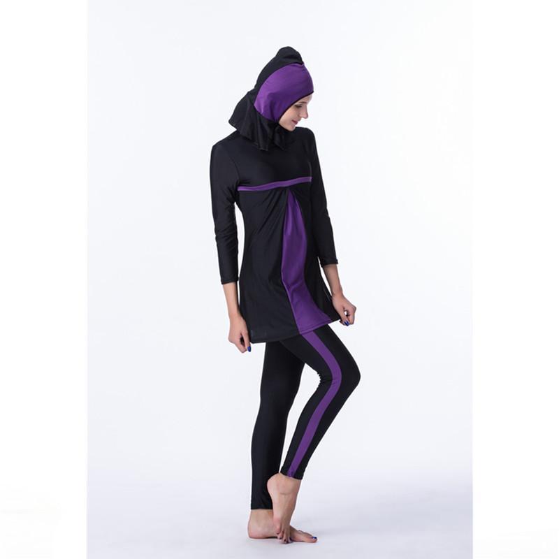 Detail Gambar MENTEE Wanita Plus Ukuran Pakaian Renang Muslim Pantai Baju renang  Muslimah Baju Renang Islam 88f86b8805