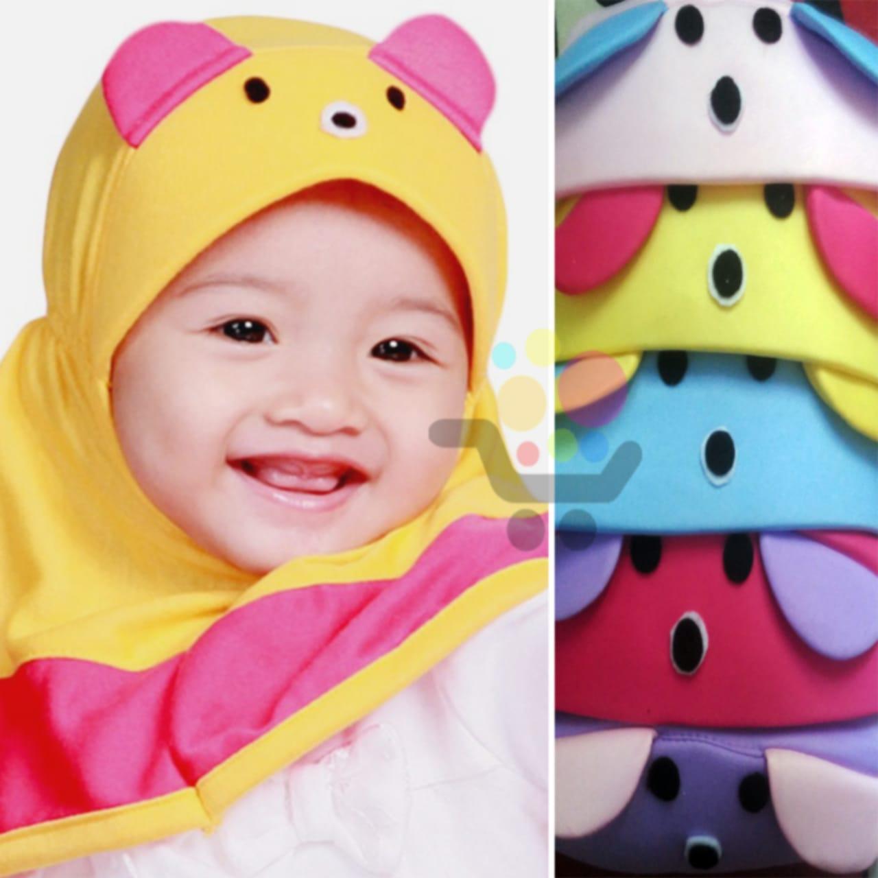 3 pcs Grosir Hijab Anak Mutiara panda / Jilbab Anak Bayi / Jilbab Bayi / Hijab