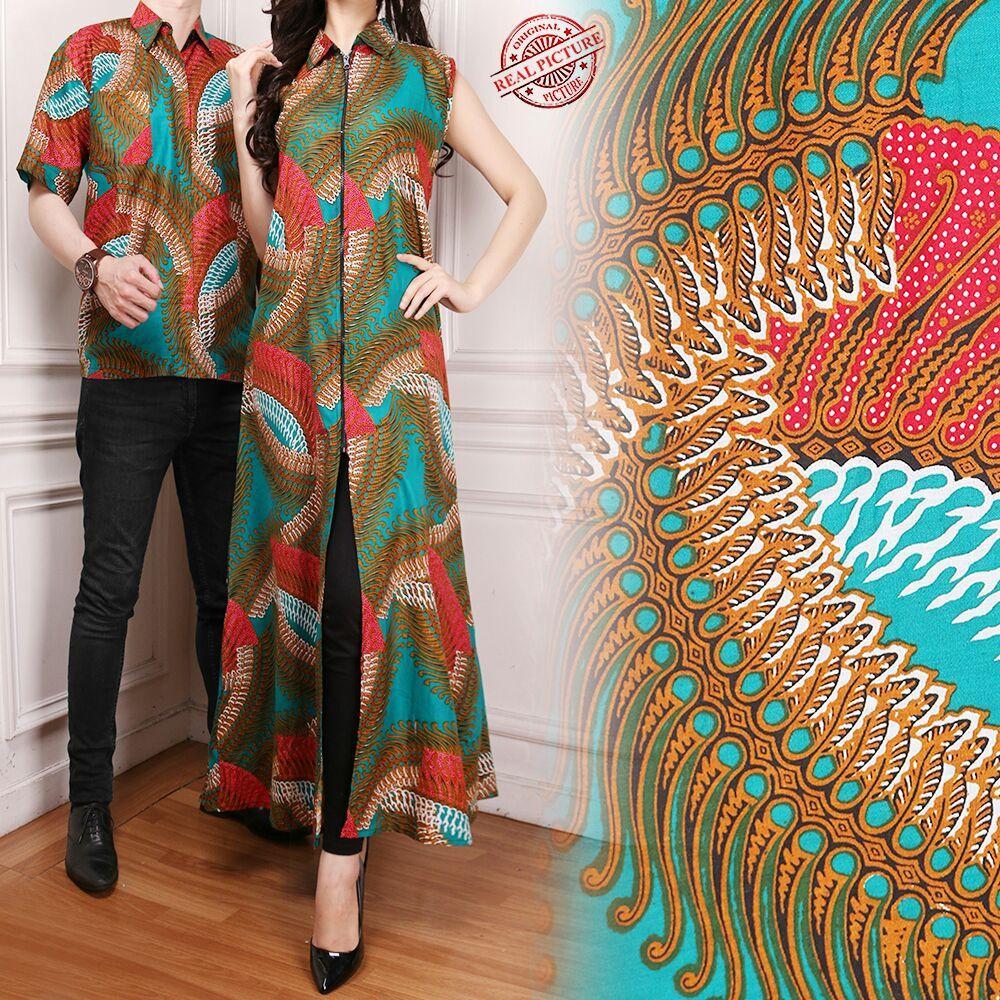 Harga Termurah 168 Collection Couple Gamis Longdress Gwenris Dan Kemeja Batik Pria