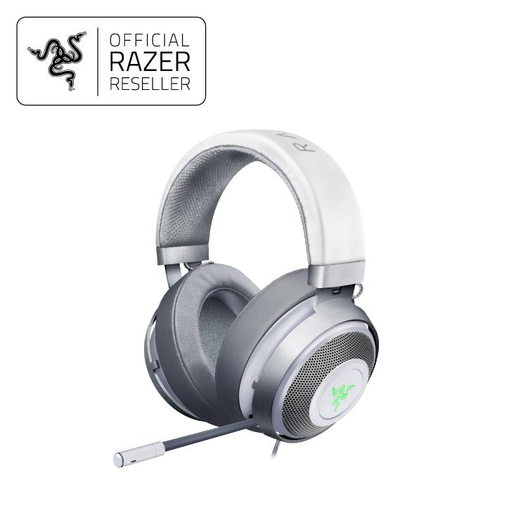 Razer Kraken 7.1 V2 Mercury Edition - Digital Gaming Headset - Oval Ear Cusions