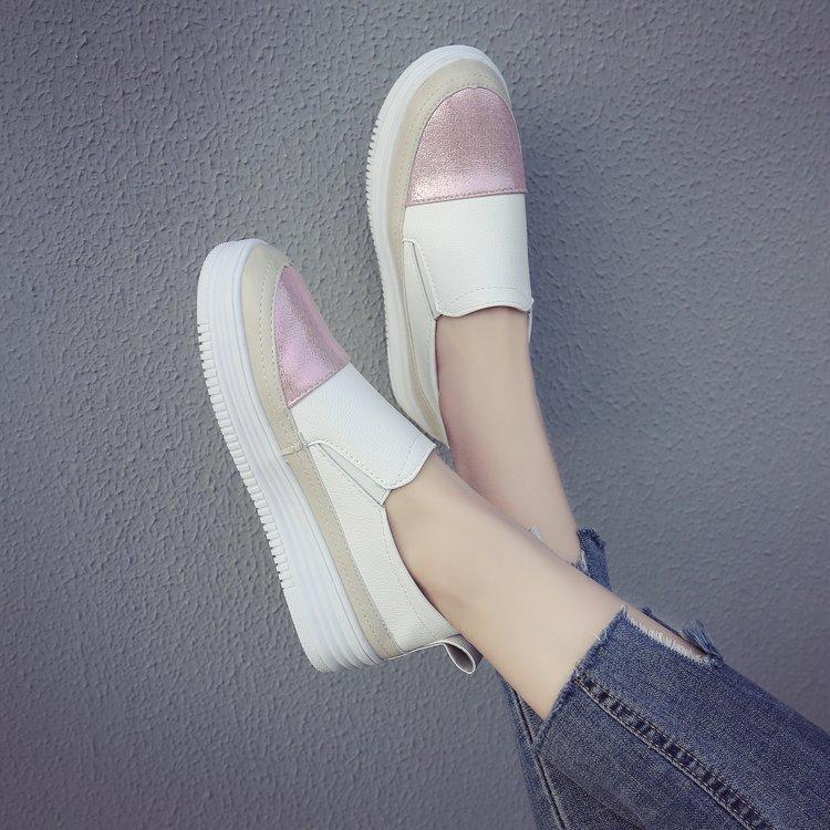 2018 model baru putih sepatu wanita mudah dipakai Musim Panas Orang Malas  netral kue spons Sepatu 79ce094115