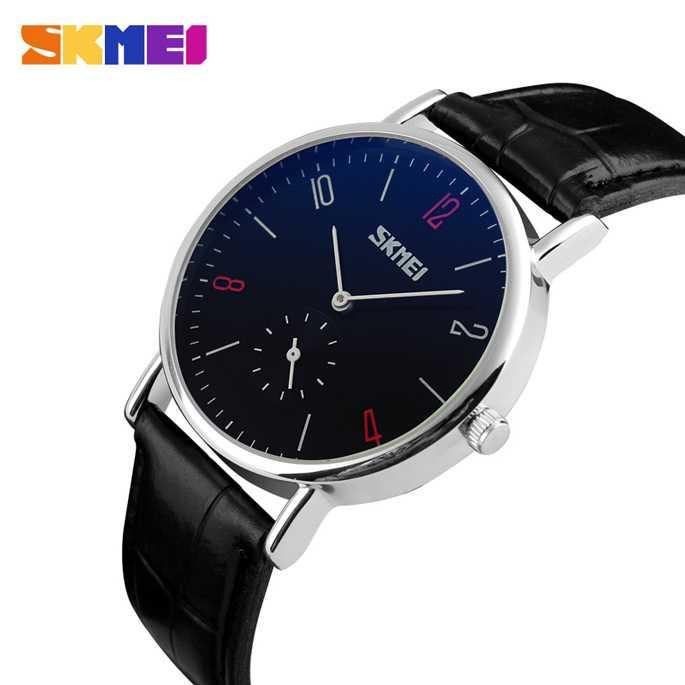 COD SKMEI Casual Men Women Leather Strap Watch Water Resistant Anti Air WR  30m Hitam Coklat 043e9fd6df