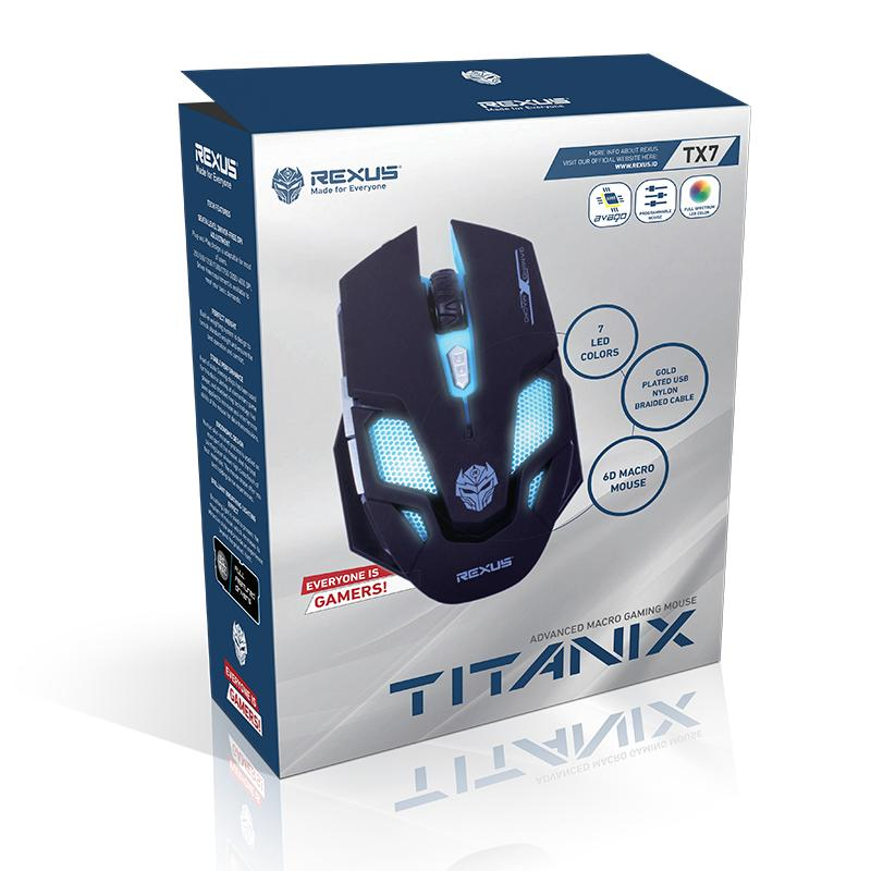Harga Rexus Mouse Gaming Tx7 Macro New