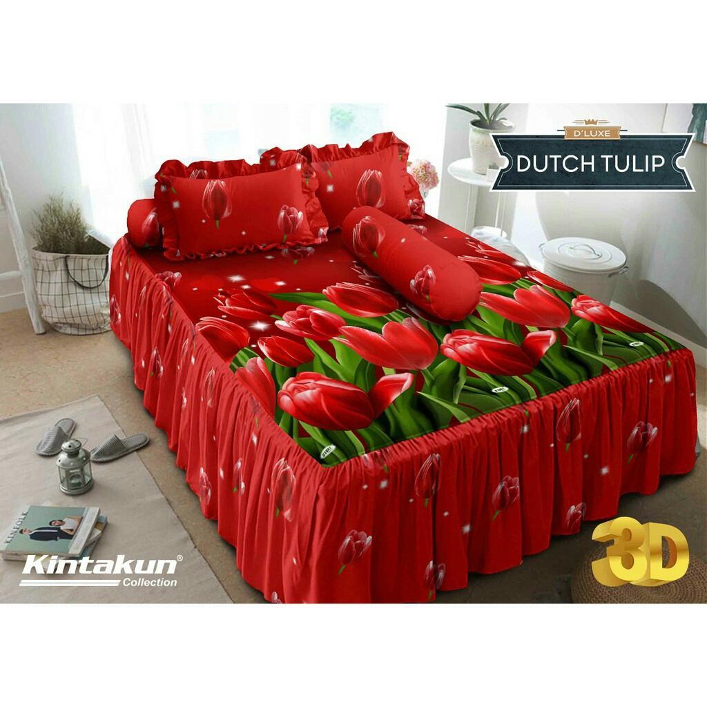 Kelebihan Kintakun Sprei Dluxe Rumbai Uk 180x200 Dutch Tulip Terkini 180 X 200 B2 King Givency Size