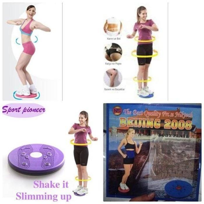 ... Paket Alat Fitnes Tummy Trimmer Dan Jogging Magnetic Trimmer Body Plate [ Alat Pelangsing ] -