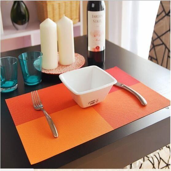 Alas Makan / Alas Piring / Table Mat Pvc Anti Slip Orange - Frhjao
