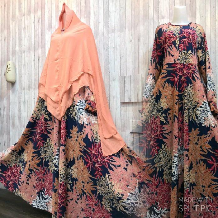 Model Adzra Gamis Murah Syari Busana Muslim Wanita Andhara Dress Coklat Terbaru