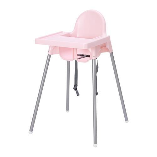 IKEA Antilop Kursi Makan Anak Dengan Baki - Merah Muda