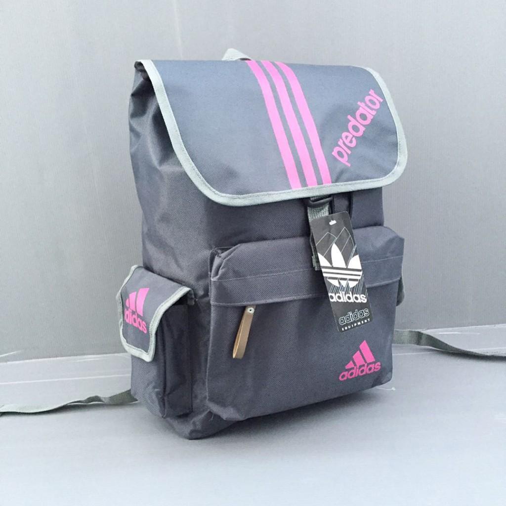 Fitur Tas Ransel Adidas Predator Grey Pink Punggung Backpack Detail Gambar Grosir Murah Terbaru