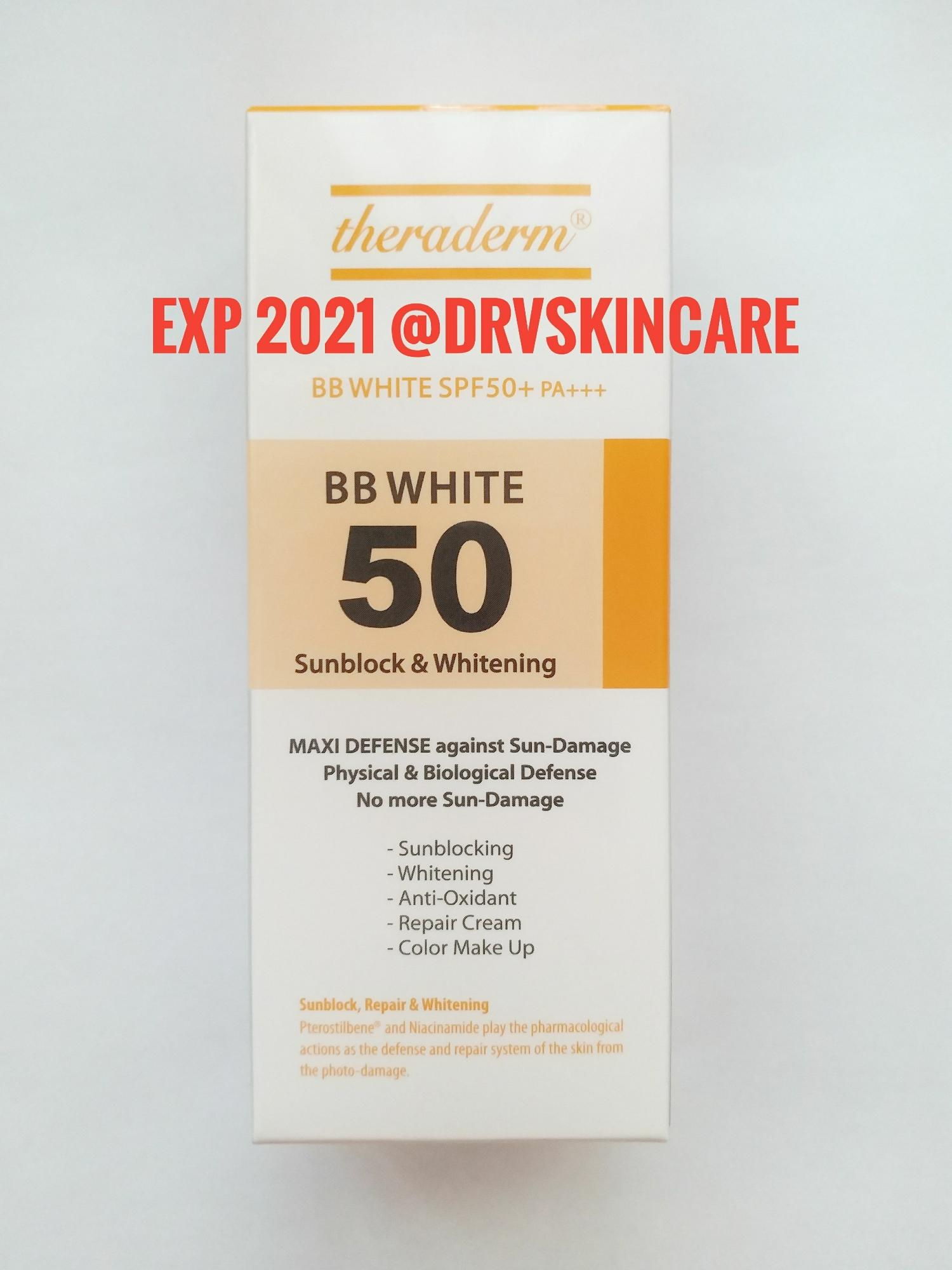 Theraderm BB White SPF50 Sunblock & Whitening [EXP 2021] BB Cream Made in