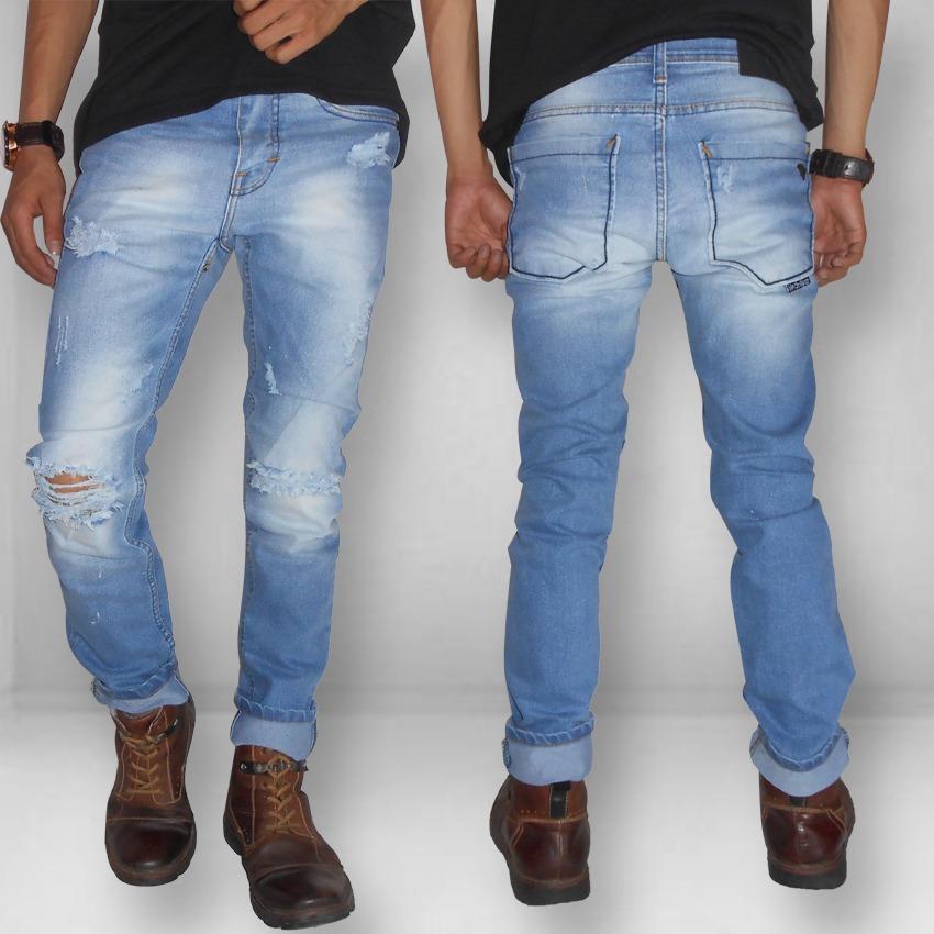 Beli Celana Jeans Denim Fit Skinny Stretch Lentur Best Seller Lengkap