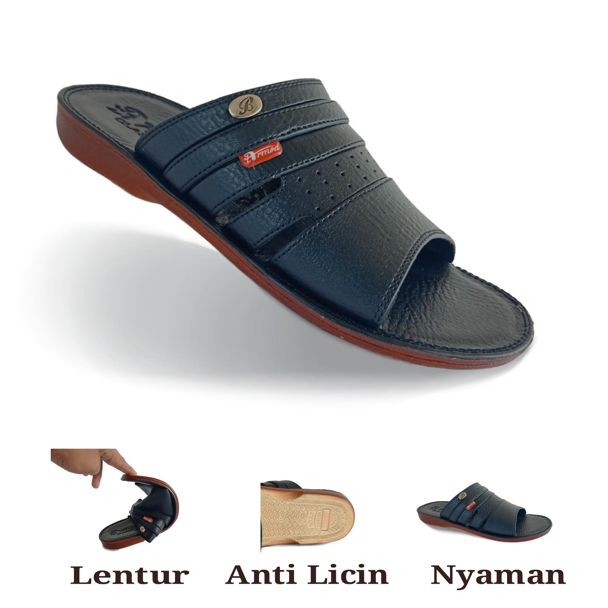 sandal pria dewasa / sandal pria casual / sandal pria casual kulit / sandal pria kulit / sandal pria lentur / armod sbr 053