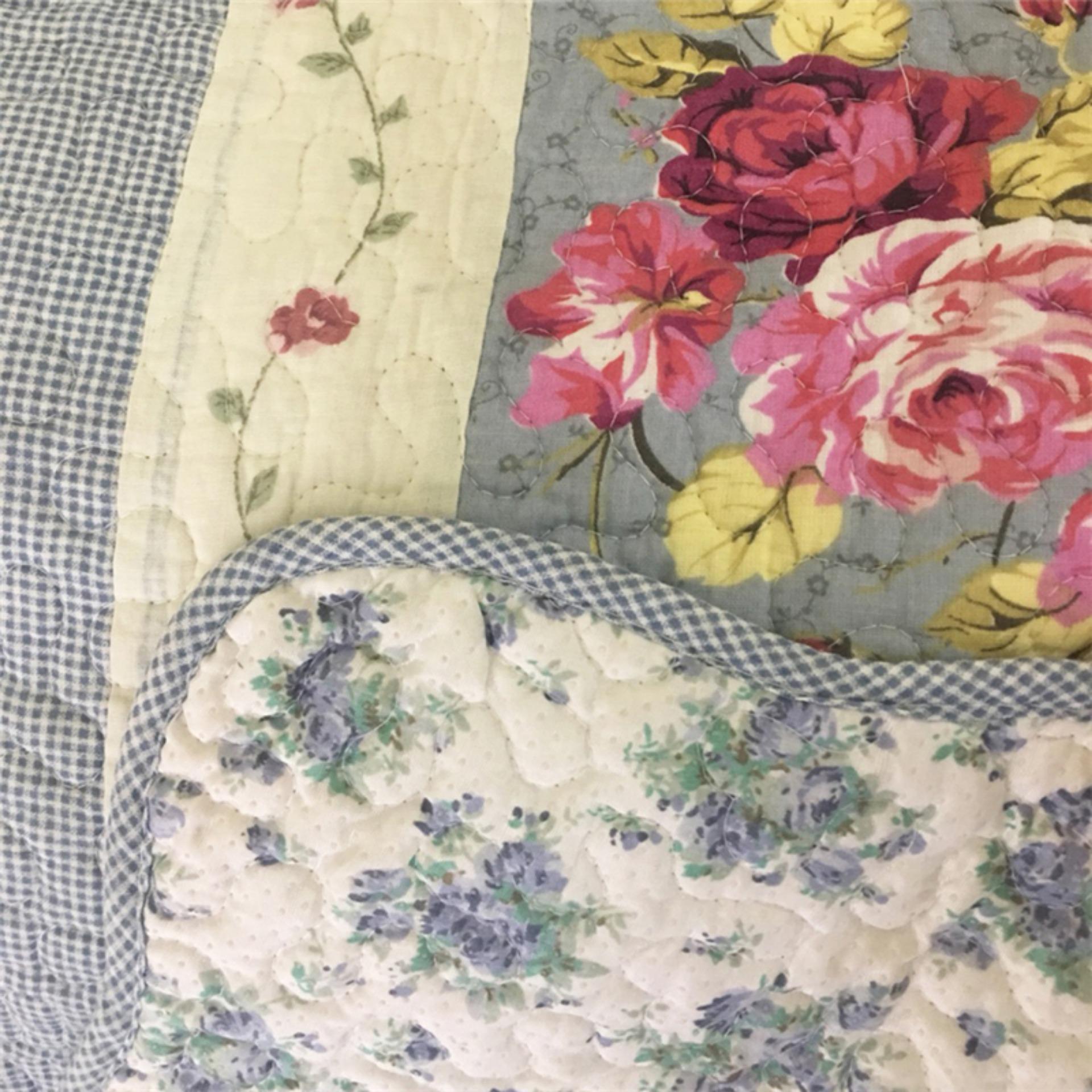 Vintage Story Carpet Floral Biru Motif Bunga Cek Harga Terkini Dan Patchwork 160x210 1 Detail Gambar Shabby Karpet Table Runner Alas Mobil 50x135 Quilting