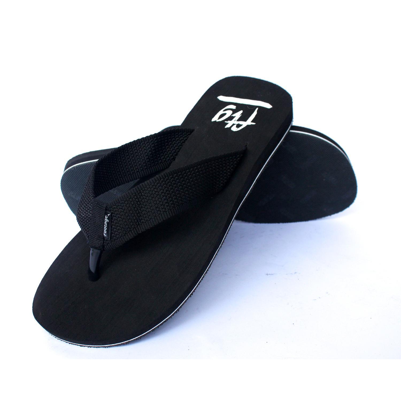 Footage Sepatu Pantofel D-05 Tali Gratis Sandal FTG 101 Hitam - 2