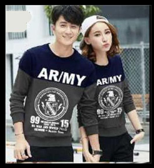 Sweater Couple / Sweater Pasangan / Baju Couple / Baju Pasangan Army Navy