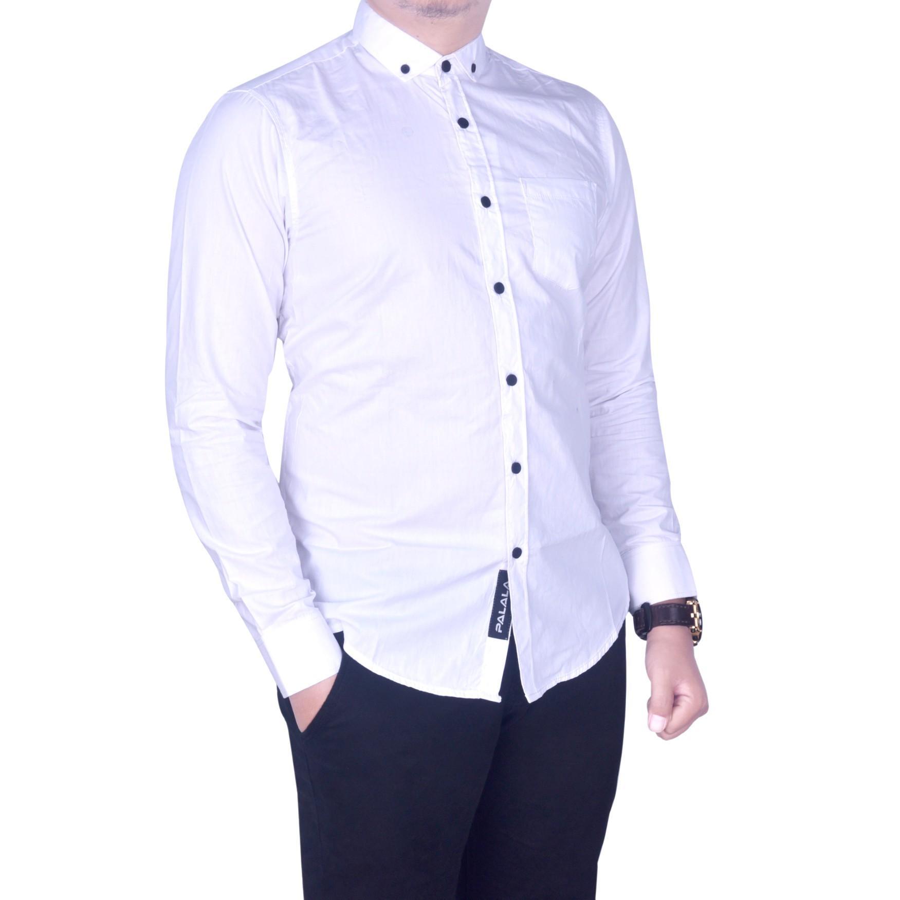 BSG_Fashion1 Kemeja Pria Lengan Panjang Putih Polos /Kemeja Batik Songket/Kemeja Songket/Kemeja Formal/Kemeja Flanel/Kemeja Pantai/Kemeja Casual/Kemeja Polos/Kemeja Tartan/Kemeja Pantai/Kemeja Distro/Kemeja Batik/Kemeja Man PS 4748 Putih - 5