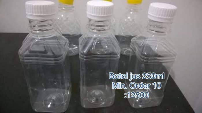 Botol kemasan plastik jus yogurt teh 250ml packaging minuman - w257tp