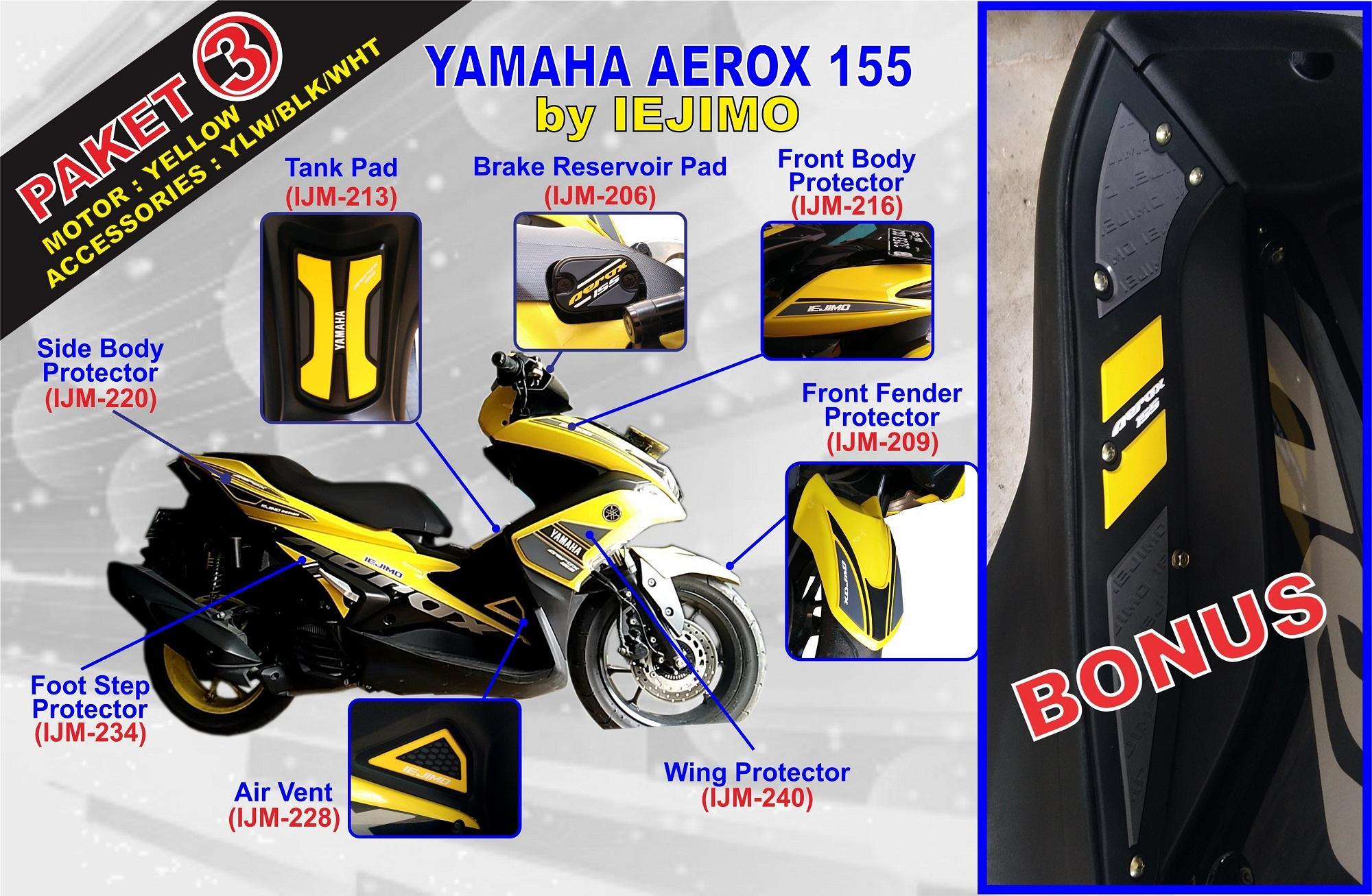 PAKET BODY PROTECTOR YAMAHA AEROX 155 - AKSESORIS AEROX 155