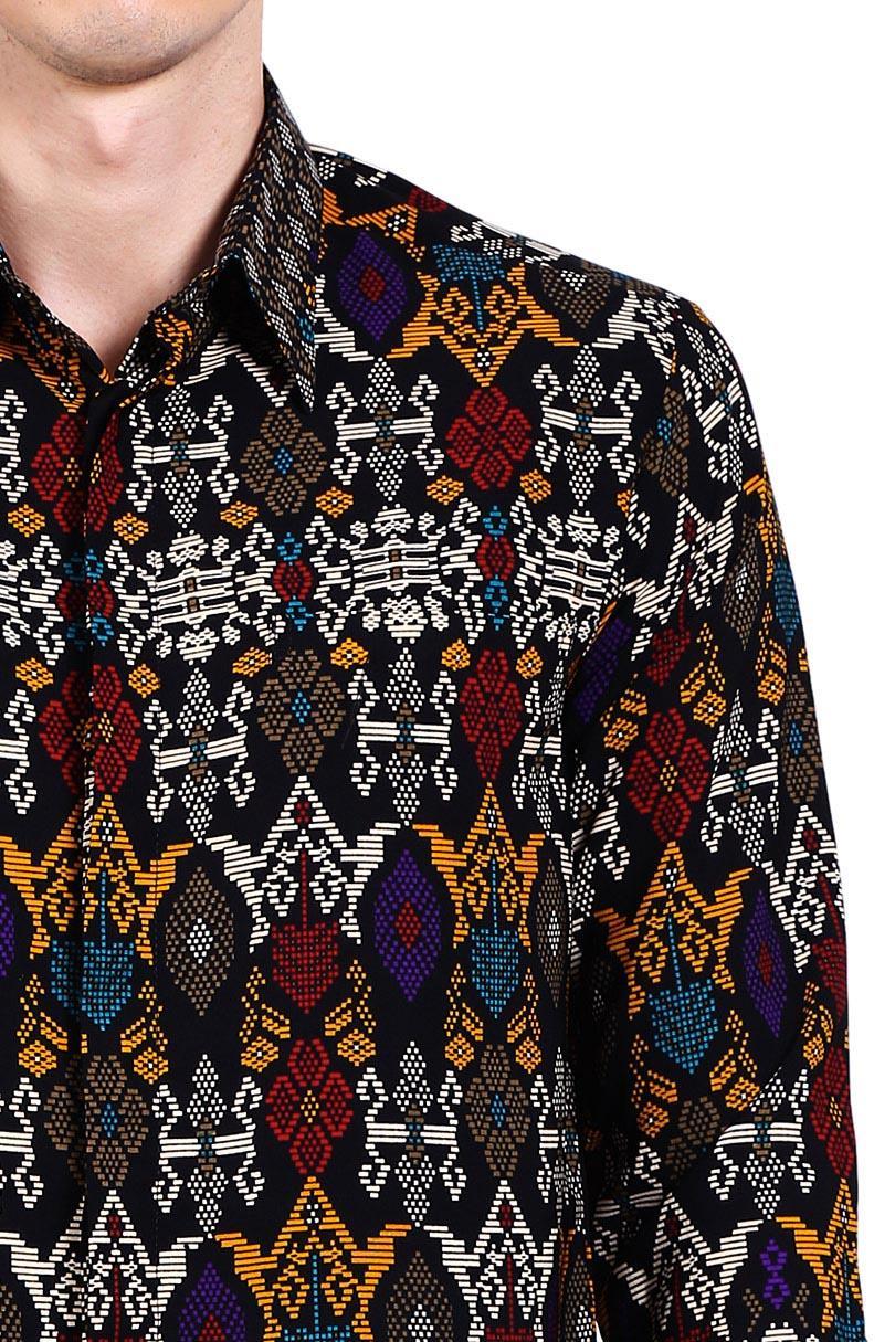 Batik Adikusuma Kemeja Pendek Pria Mega Anam Cokelat Daftar Harga Bodyfit Mendung Tua M Tenun Bali Hijau Pakaian Tradisional 4