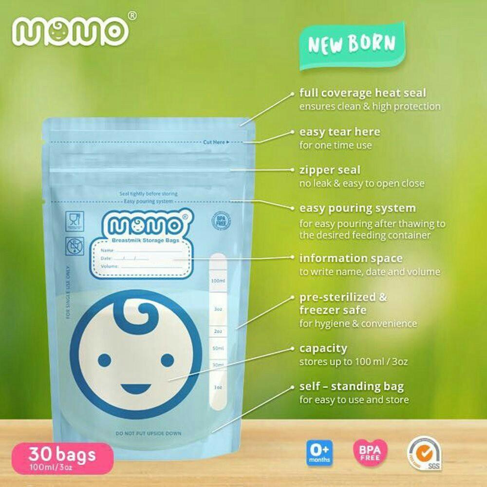 Kelebihan Risti Beauty Momo Breastmilk Storage Bags Kantong Asi 1 Box Isi 30 100ml 30bags