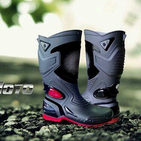 harga Lbag Sepatu Karet Pvc Anti Tembus Air Banjir Hujan Ap Boots Moto 3 Moto3 Sepatu touring cross trail balap drag Anti Air AP BOOTS Lazada.co.id