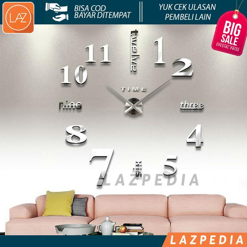 Laz COD - Jam Dinding DIY 80-130cm Diameter Jam Dinding Dengan Ukuran Sangat Besar
