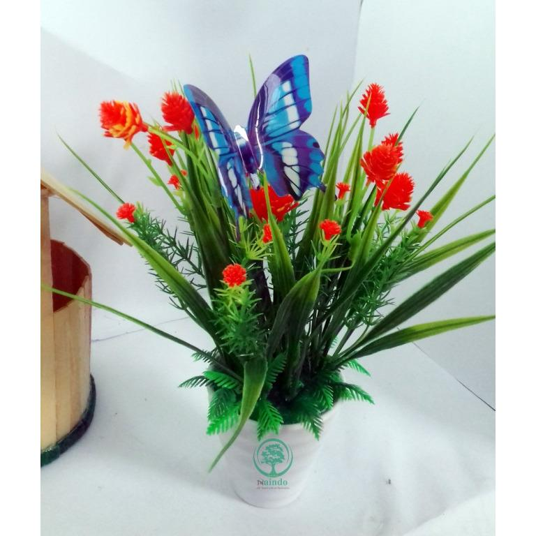 Naindo - Bunga Hiasan Ruang tamu dan Kantor+Vas-Bunga artifisial-bunga  pajangan c30e31bfe3