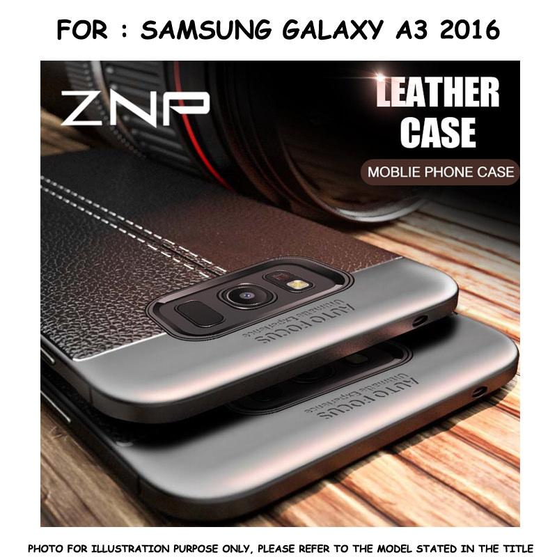 Leather Style TPU Soft Case Casing Samsung Galaxy A3 2016