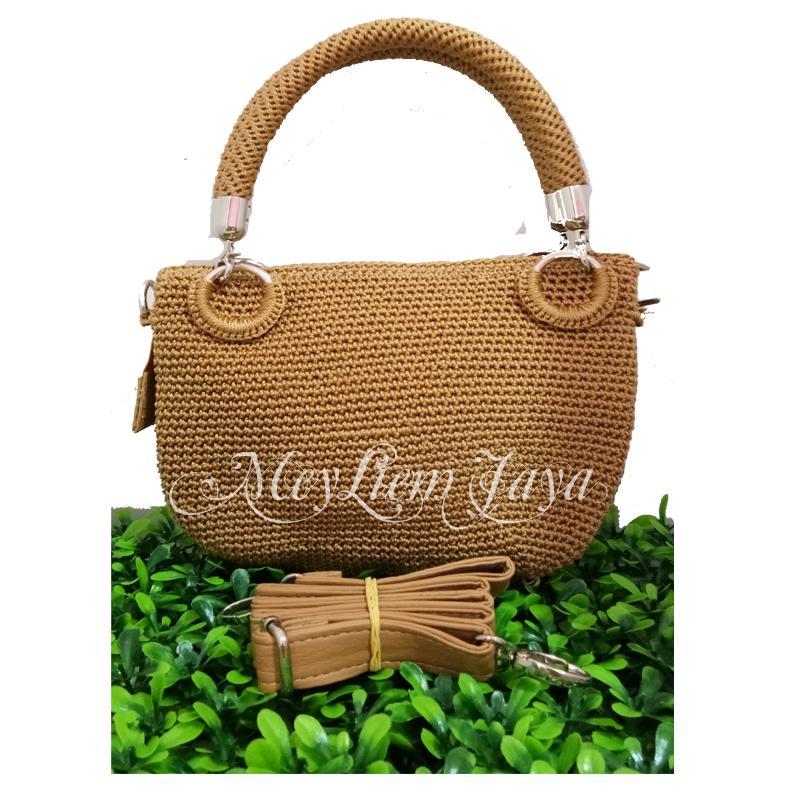 Review Larisso Shop Tas Rajut Hobo Balon Mini Tembaga Dan Harga ... 88935091e4