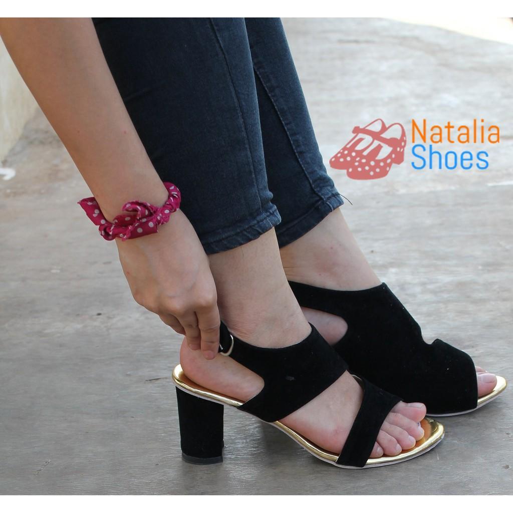 Sepatu Sandal High Heels Wanita Murah Zara Style BAJ02 - Black
