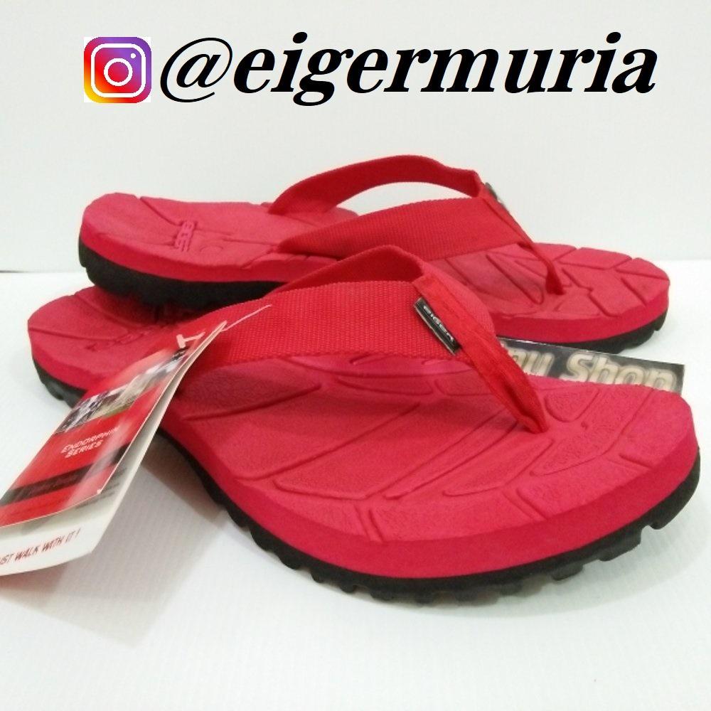 Fitur Promo Sandal Gunung Eiger Kinkajou Hitam Jepit Polos Japit Merah Pendaki