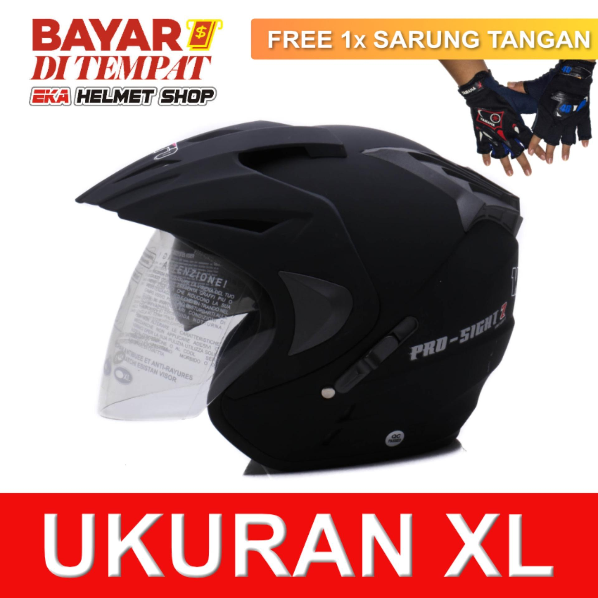 Toko Jual Wto Helmet Pro Sight Hitam Doff Promo Gratis Sarung Tangan