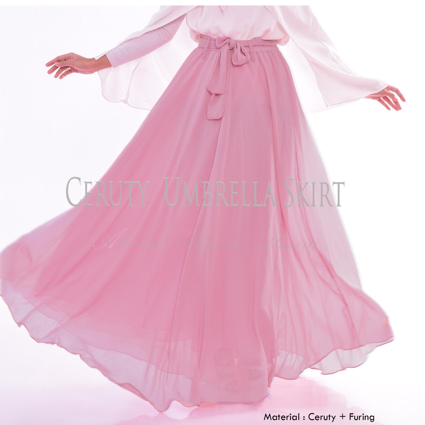 Beli Almira Rok Panjang Wanita Cerutti Dusty Pink Cicilan
