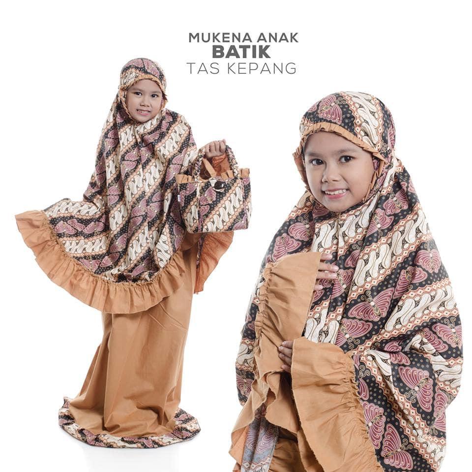 viza - MUKENA ANAK KATUN JEPANG MURAH BATIK COKLATbaju muslim wanita / baju muslimah / baju muslim wamita terbaru / baju muslim murah TERBARU!!