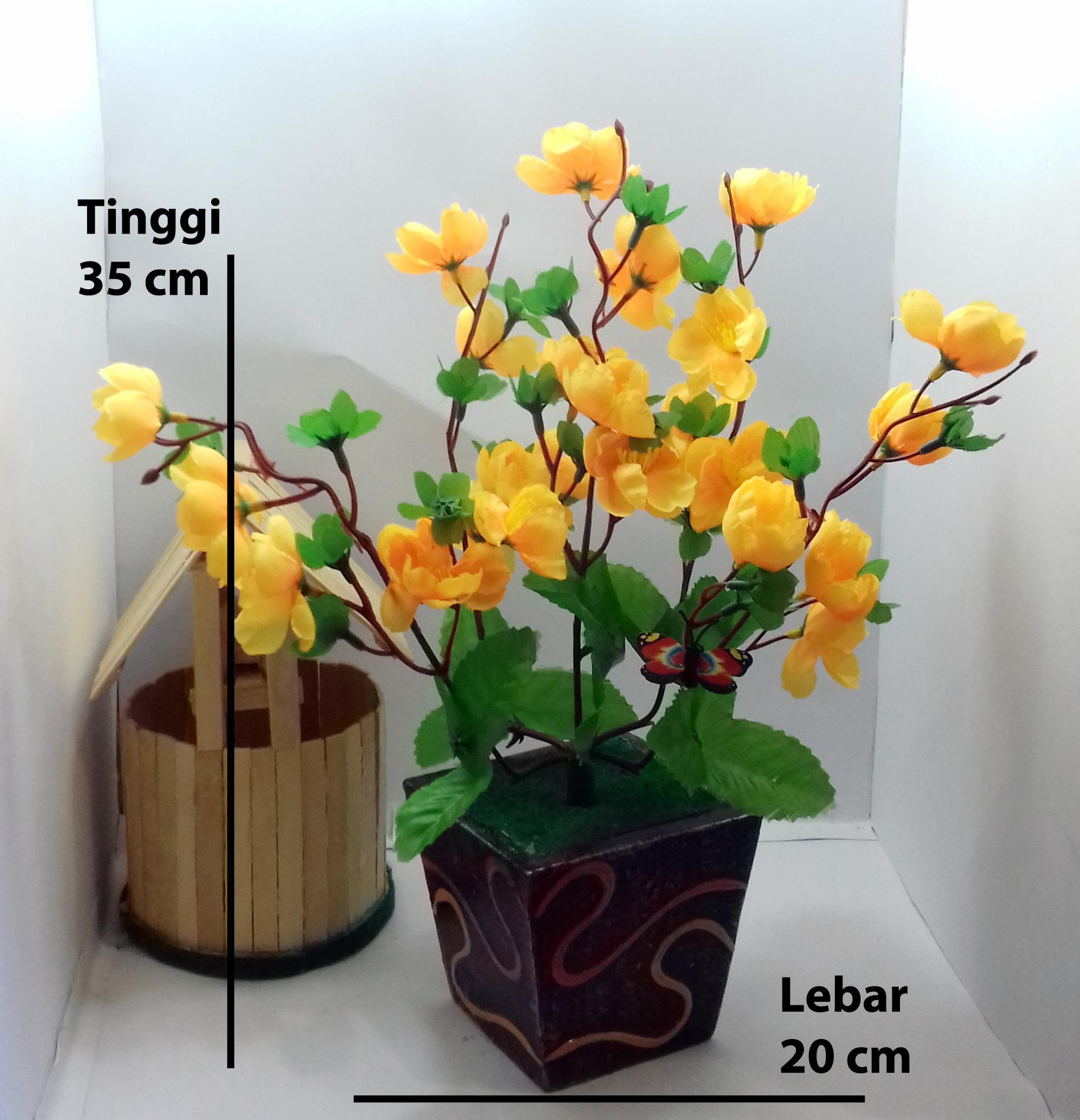 Review Naindo Bunga Artifisial Plastik Hiasan Ruang Tamu   Kantor ... 9e756573ca